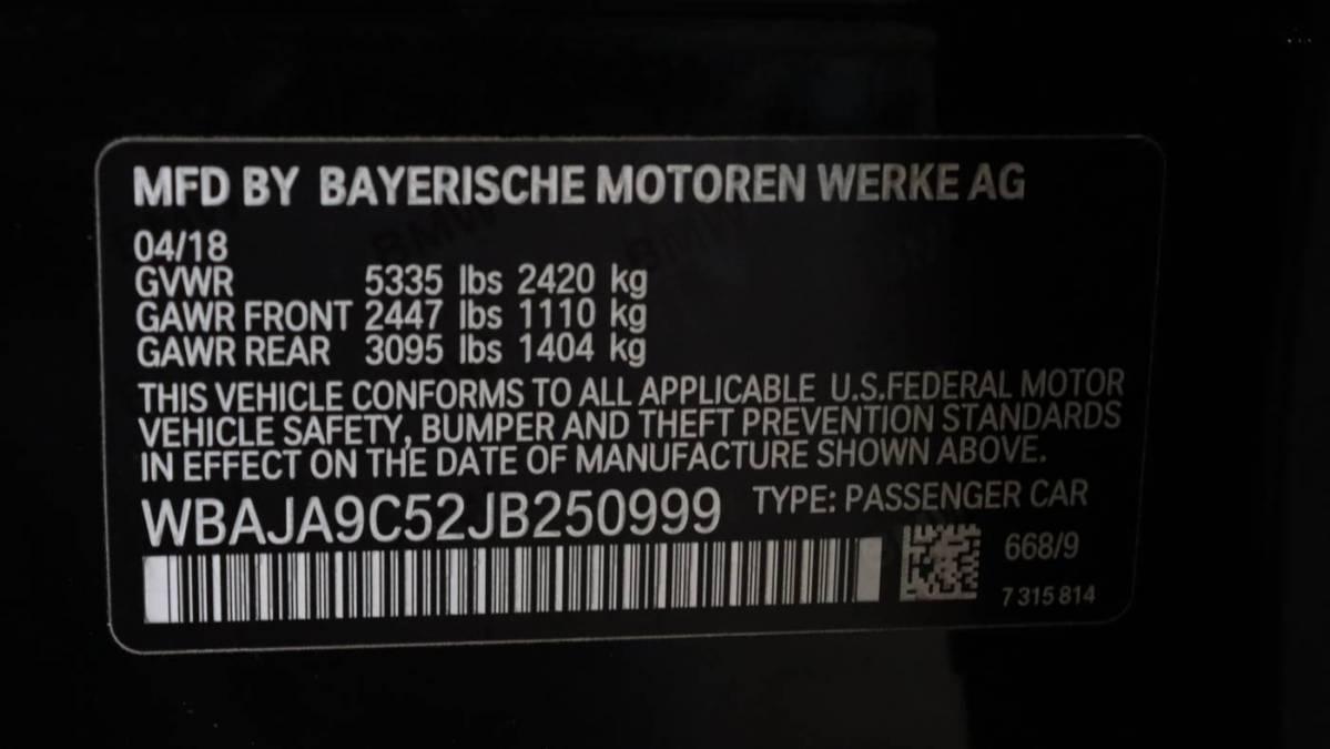 2018 BMW 5 Series WBAJA9C52JB250999