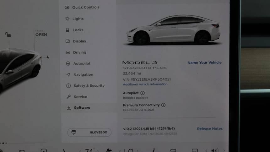 2019 Tesla Model 3 5YJ3E1EA3KF504021