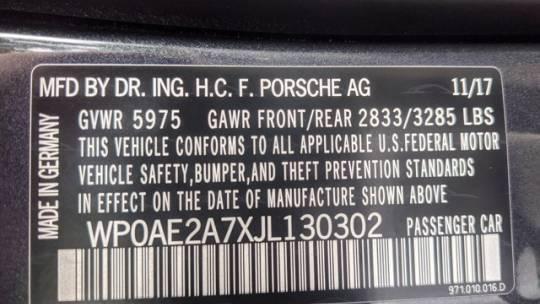 2018 Porsche Panamera WP0AE2A7XJL130302