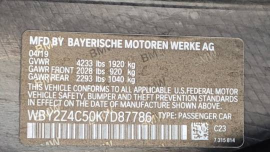 2019 BMW i8 WBY2Z4C50K7D87786