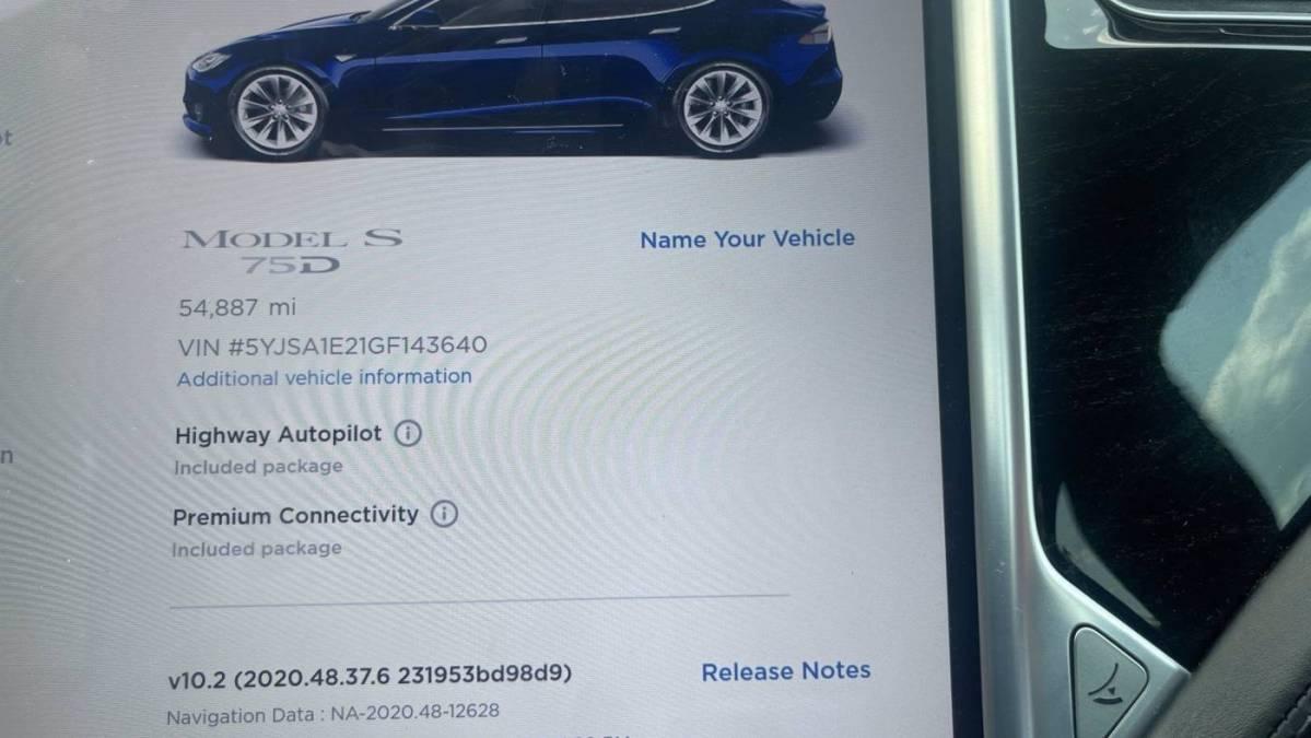 2016 Tesla Model S 5YJSA1E21GF143640