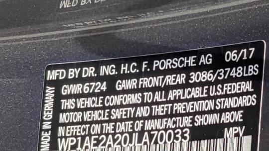 2018 Porsche Cayenne WP1AE2A20JLA70033