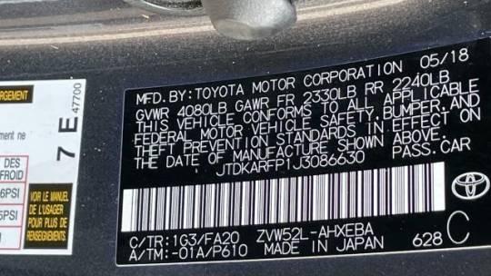 2018 Toyota Prius Prime JTDKARFP1J3086630