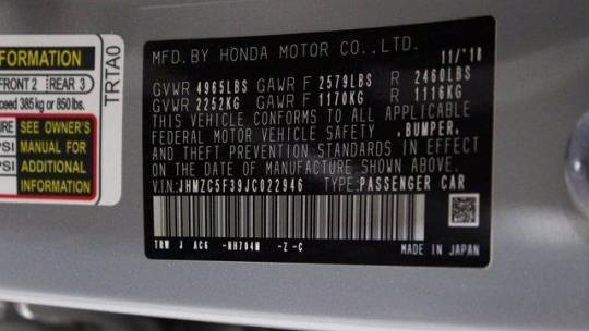 2018 Honda Clarity JHMZC5F39JC022946
