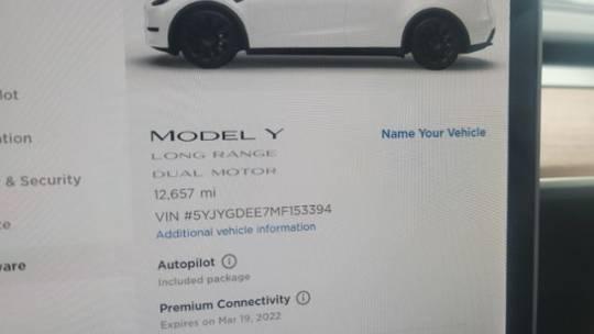 2021 Tesla Model Y 5YJYGDEE7MF153394