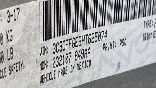 2017 Fiat 500e 3C3CFFGE3HT625074