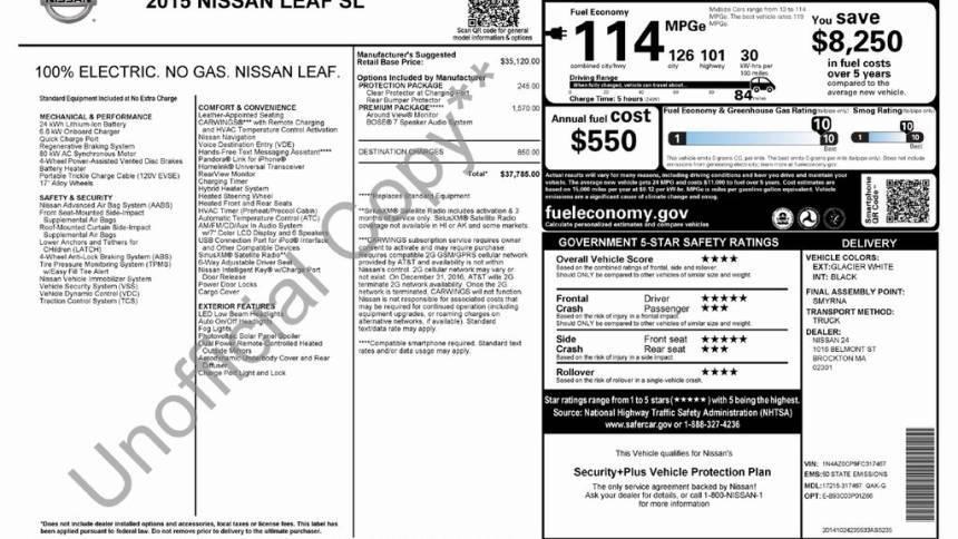 2015 Nissan LEAF 1N4AZ0CP9FC317467