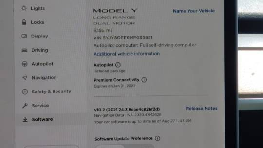 2021 Tesla Model Y 5YJYGDEE6MF096881