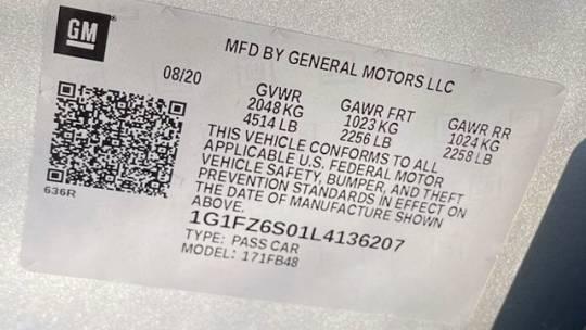 2020 Chevrolet Bolt 1G1FZ6S01L4136207