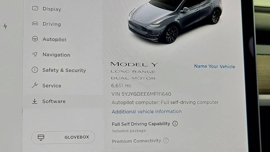 2021 Tesla Model Y 5YJYGDEE6MF111640