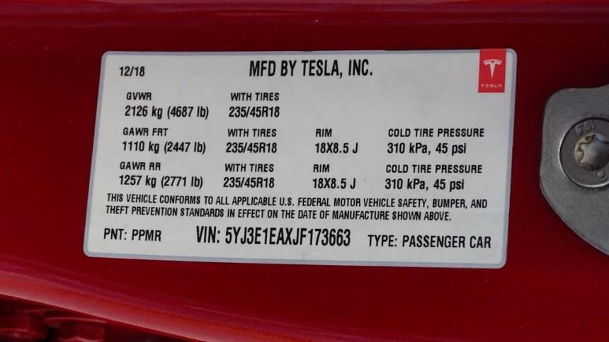 2018 Tesla Model 3 5YJ3E1EAXJF173663