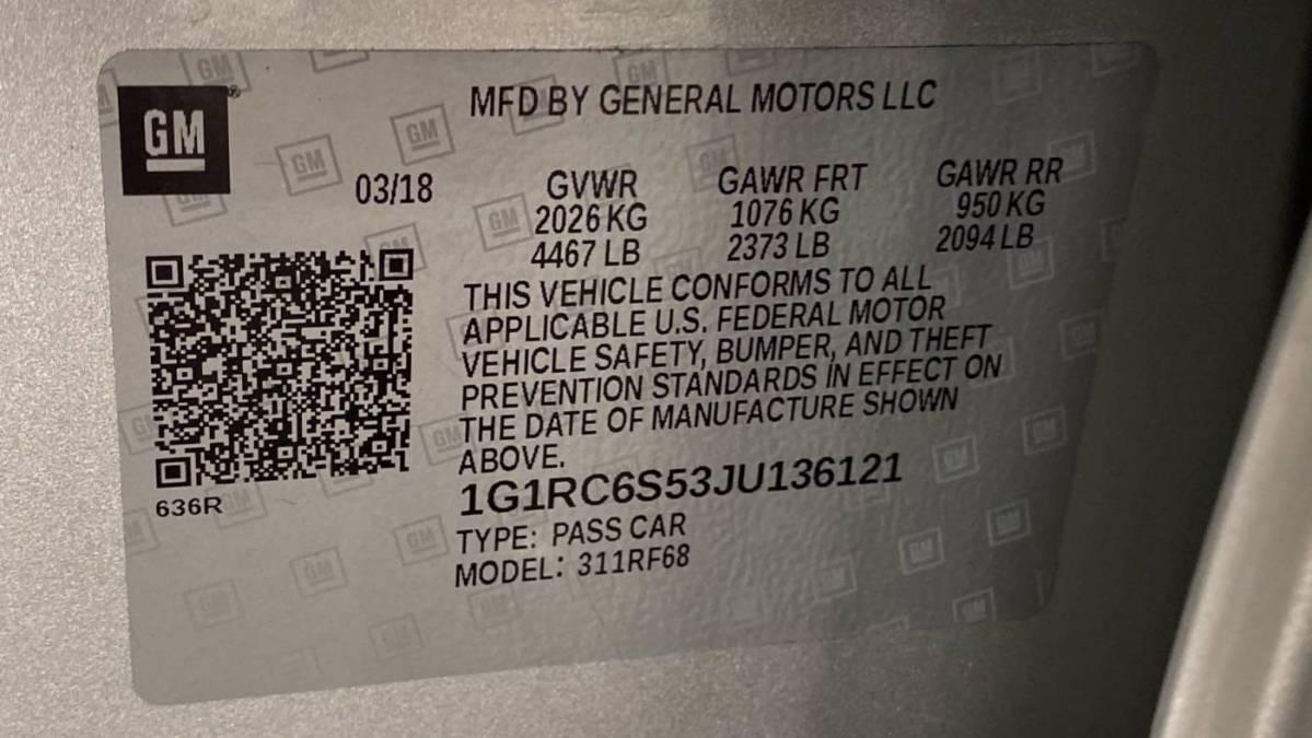 2018 Chevrolet VOLT 1G1RC6S53JU136121