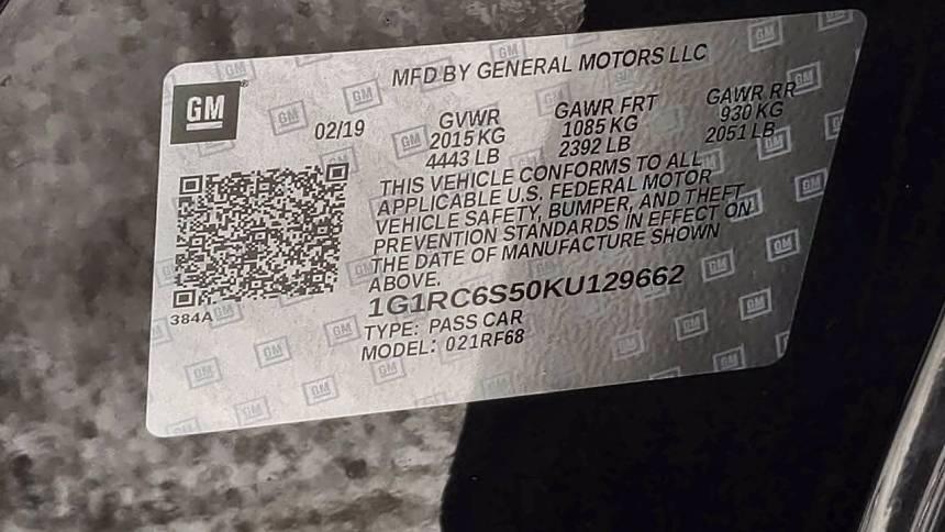 2019 Chevrolet VOLT 1G1RC6S50KU129662