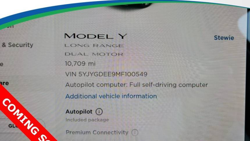 2021 Tesla Model Y 5YJYGDEE9MF100549
