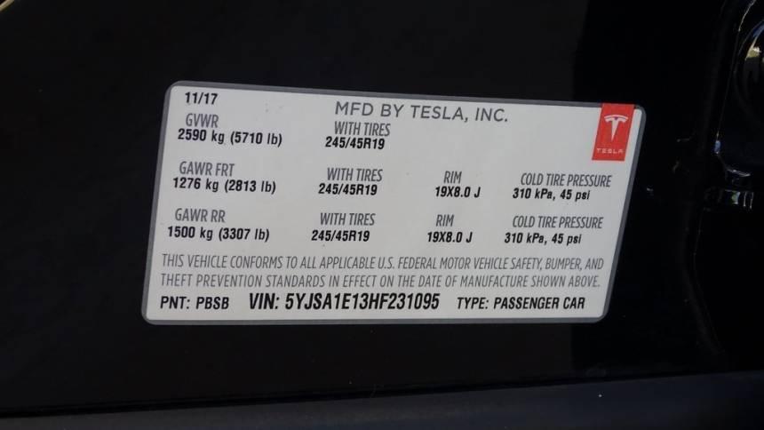 2017 Tesla Model S 5YJSA1E13HF231095