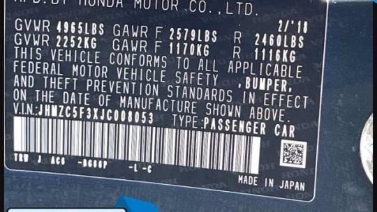 2018 Honda Clarity JHMZC5F3XJC008053