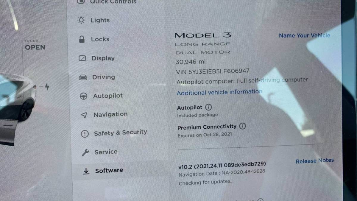 2020 Tesla Model 3 5YJ3E1EB5LF606947