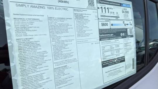 2020 Nissan LEAF 1N4AZ1CP8LC303318