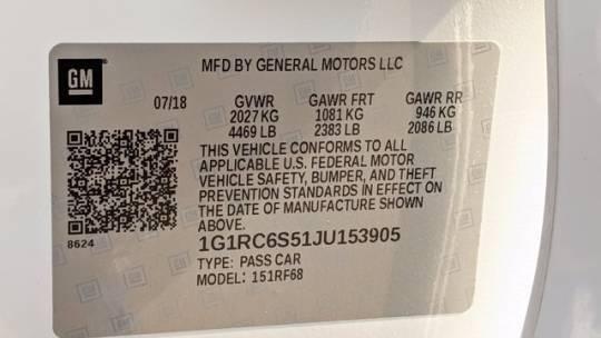 2018 Chevrolet VOLT 1G1RC6S51JU153905