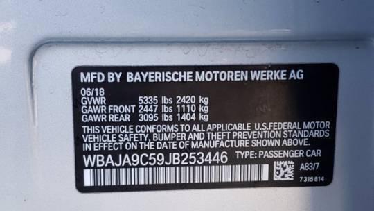 2018 BMW 5 Series WBAJA9C59JB253446