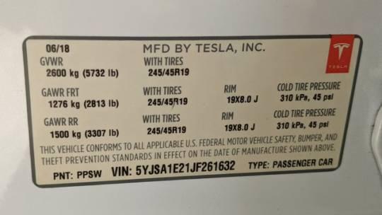 2018 Tesla Model S 5YJSA1E21JF261632