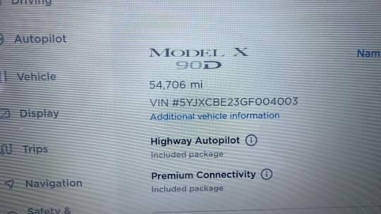 2016 Tesla Model X 5YJXCBE23GF004003