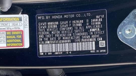 2018 Honda Clarity JHMZC5F37JC000895